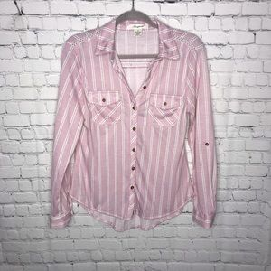 Button up Striped Top